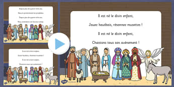 PowerPoint : Il est né le divin enfant - chanson, chant, Noël, chanter, parole, fête, musique