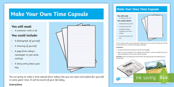 Today's Time Capsule Step-by-Step Instructions - time capsule, instructions, step by step, record, time, date,Irish