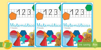 Separadores de álbumes: Matemáticas - álbum, fin de curso, dividir, tapa de álbumes, tapas, asignaturas, trimestre