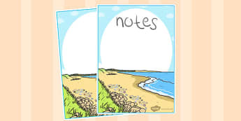 British Seashell Editable Note - british, seashell, editable