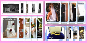 Wedding Pictures Resource Pack - Picture Cards, remember, marriage, memory