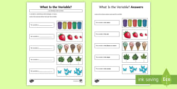 What's the Variable? Activity Sheet - KS2, curriculum aims, computing, coding, variable, variation, difference, identify, worksheet