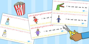 Punch and Judy Alphabet Strips - alphabet, strips, punch, judy