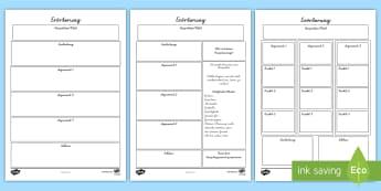Erörterung Schreibvorlagen Set - Argumentation, Argumentieren, Argument, Pro, Kontra, für, gegen, Aufsatz, ,German