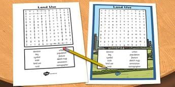 Land Use Wordsearch - land use, wordsearch, word, search, land