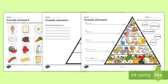 Piramida alimentară Activitate - alimentație sănătoasă, grupe de alimente, piramida alimentelor, alimentație, Romanian