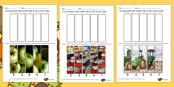 Harvest Photo Number Sequencing Puzzle - autumn, seasons, games