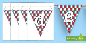 Maltese Display Bunting - maltese, display, bunting, latters, alphabet, alphebet, flags, letters and sounds, letters,