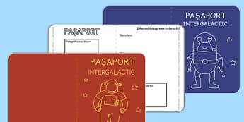 Pașaport intergalactic - Cadru de scriere - spațiu, cosmos, fotografii, cadru de scriere, pașaport, intergalactic, planete, în spațiu, univers, stele, planșe, imagini, cuvinte, materiale didactice, română, romana, material, material