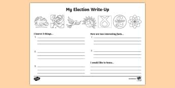 General Election 2017 Write Up Worksheet / Activity Sheet - worksheet, election 2017, general election 2017, theresa may, labour, conservatives, liberal democra