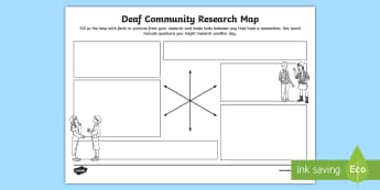 Deaf Community Research Map - deaf awareness, deaf community, deaf culture, deaf role models, deaf world, british deaf association