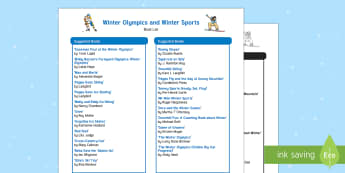 Winter Olympics and Winter Sports Book List - Winter Olympics 2018 (9th -25th February 2018), South Korea, Paralympics, Literacy Book Corner, Snow