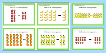 Year 1 Array Subtraction Challenge Cards - year 1, array, subtraction, challenge cards, challenge area, challenge, subtract