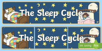 CfE 1st Level Sleep Cycle Banner - health and wellbeing, sleep, hwb, sleep cycles, 1st level, first level, ,Scottish
