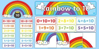 Rainbow to 10 Display Pack