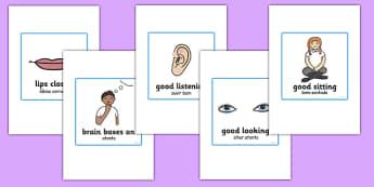 Good Listening Cards Portuguese Translation - portuguese, good listening, cards, good, listening