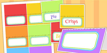 Rainbow Themed Birthday Party Editable Food Labels - parties