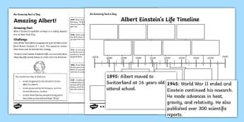 Amazing Albert Activity Sheet - amazing fact a day, activity sheet, activity, activities, amazing, albert einstein, worksheet