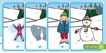 Winter Themed Four Corners Activity Sheets - Christmas party, Party Games Outdoor Learning, Warm up, Brain Breaks, Alternative Christmas activity
