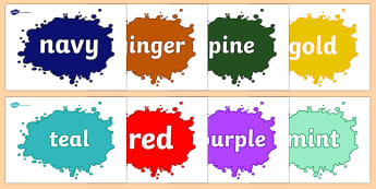 Colour Display Posters - colour, display, poster, topic, images