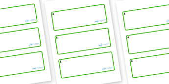 Fir Tree Themed Editable Drawer-Peg-Name Labels (Blank) - Themed Classroom Label Templates, Resource Labels, Name Labels, Editable Labels, Drawer Labels, Coat Peg Labels, Peg Label, KS1 Labels, Foundation Labels, Foundation Stage Labels, Teaching Lab