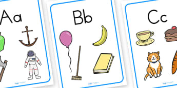 Large Alphabet Display Posters - alphabet, a-z, alphabet posters