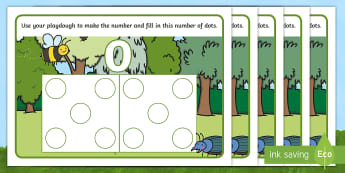 Minibeast Hungarian Number Pictures 0-10 Playdough Mats - Early Years, EYFS, Foundation, Mathematics, Maths, Maths Mastery, Subitising, Hungarian Number Pictu