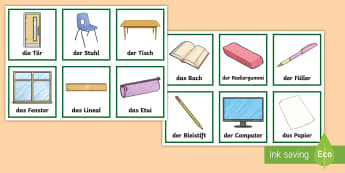 Classroom Objects Snap Card Game German - German Games, German snap, German classroom, German objects, German classroom objects,Scottish-trans