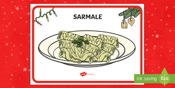 Sarmale Planșă - sarmale, crăciun, planșă, afiș, decor, mâncare, bucate, Romanian