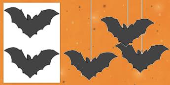 Dangly Bat Cut-Outs