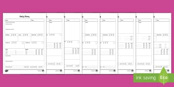 Daily Care Sheet Resource Pack - Daily sheet, daily diary, daily record, care sheet, daily communication, daily sheet, baby diary, nu