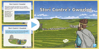 Pŵerbwynt Stori Cantre'r Gwaelod - .mor, storm, morglawdd, sea, storm, Gwyddno, Garanhir, Seithennyn, Mererid, traditional tales, Mabin