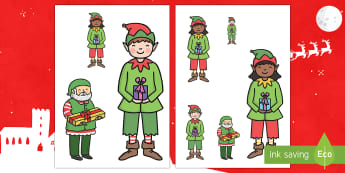 Christmas Elves Measuring Activity