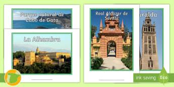 Fotos de exposición: Sitios de interés - Andalucía  - Mapas, provinicias, mapas mudos, mapas en blanco, las ciudades de españa, comarcas, concejos, comun