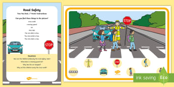 Road Safety Can You Find...? Poster - road safety, personal safety, street safety, pre-K safety, kindergarten safety, can you find poster,