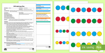 EYFS Pasta Patterns Adult Input Plan and Resource Pack - sequence, threading, pd, fine motor, colour, adult input plan, adult led, teacher led, ta led, adult