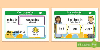 Daily Weather Calendar Weather Chart Romanian Translation-Romanian-translation - Daily Weather Calendar Weather Chart - daily weather calender, weather chart, short date calender, s