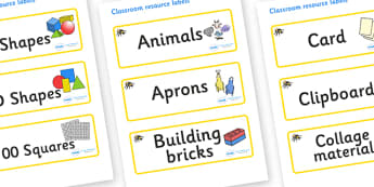 Busy Bee Themed Editable Classroom Resource Labels - Themed Label template, Resource Label, Name Labels, Editable Labels, Drawer Labels, KS1 Labels, Foundation Labels, Foundation Stage Labels, Teaching Labels, Resource Labels, Tray Labels, Printable