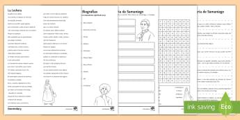 Spanish Literature Lesson Pack to Support Teaching on 'La Lechera' by Samaniego Spanish