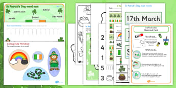 St Patricks Day EYFS Resource Pack - Ireland, celebrate, activity