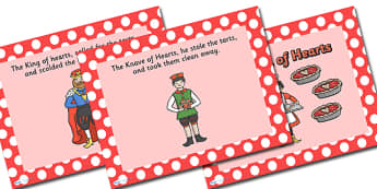 The Queen of Hearts PowerPoint - the queen of hearts, nursery rhymes, nursery rhyme powerpoint, the queen of hearts nursery rhyme powerpoint, rhyme, song