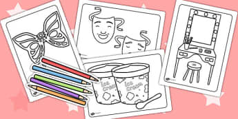 The Theatre Colouring Pages - theatre, colouring, colours, colour