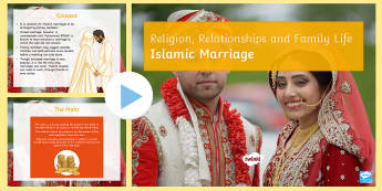 Islamic Marriage PowerPoint - Islam, marriage, dowry, nikah, Celebration, GCSE, KS4