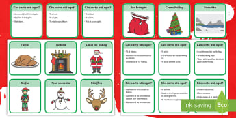 What Card Have You Got? Christmas Guessing Game Gaeilge - cluiche, irish, gaeilge, games, christmas, nollag