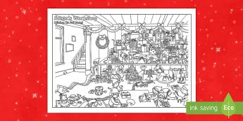 Crazy Christmas Colouring Challenge English/Portuguese - Christmas, Nativity, Jesus, xmas, Xmas, Father Christmas, Santa, challenge, eal