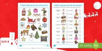 French Christmas-Themed I Spy - French, Festivals, Christmas, Celebrations, Noël, France, Key Stage1, traditions,French