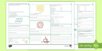 AQA Chemistry Unit 4.2 Bonding, Structure and Properties of Matter Higher Revision Activity Mat - Ionic, Covalent, Metallic, Electrons, Shells, Graphite, Graphene, ions