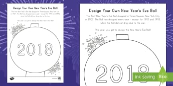 Design Your Own New Year's Eve Ball Activity - New Year's Eve Tradition, Art, Times Square Ball, Holidays, Creative design