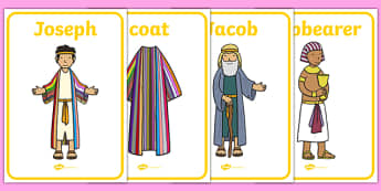 Joseph Display Posters - Joseph, coat, Jacob, bible story, bible, slave, brothers, display, banner, poster, sign, cupbearer, pharao, prison, cows, corn, dreams, Palace, Egypt, fat, thin