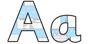 Data Analysis Lowercase Display Lettering - data analysis, data analysis display lettering, data analysis display letters, data analysis alphabet letters